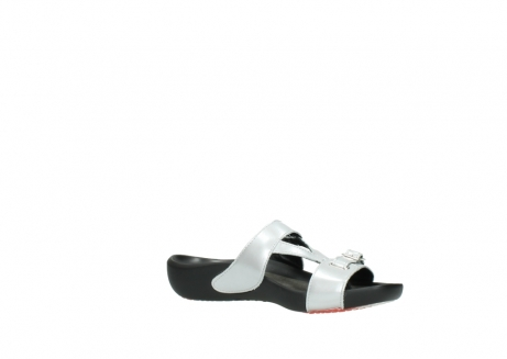 wolky slippers 01000 oconnor 80200 grey patent metallic leather_15