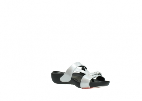 wolky slippers 01000 oconnor 80200 grey patent metallic leather_16