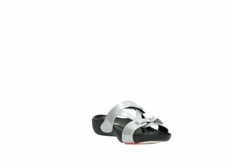 wolky slippers 01000 oconnor 80200 grey patent metallic leather_17