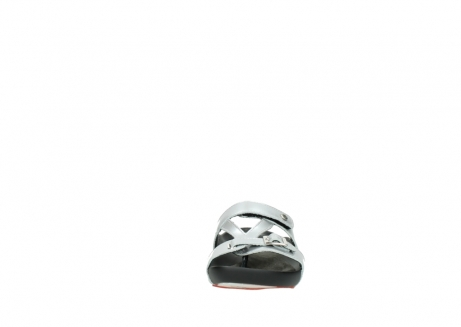 wolky slippers 01000 oconnor 80200 grey patent metallic leather_19