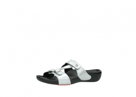 wolky slippers 01000 oconnor 80200 grey patent metallic leather_23