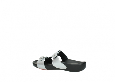 wolky slippers 01000 oconnor 80200 grey patent metallic leather_3