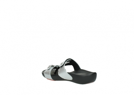 wolky slippers 01000 oconnor 80200 grey patent metallic leather_4