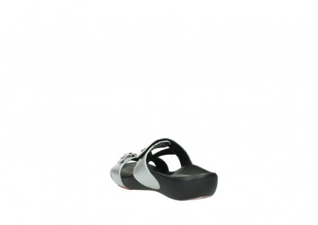 wolky slippers 01000 oconnor 80200 grey patent metallic leather_5