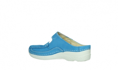 wolky slippers 06227 roll slipper 11865 royal blue nubuck_15