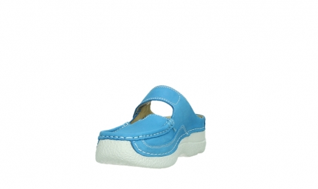 wolky slippers 06227 roll slipper 11865 royal blue nubuck_9