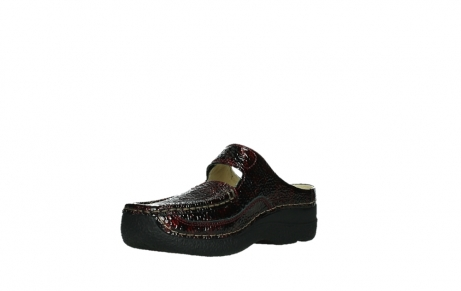 wolky slippers 06227 roll slipper 65510 burgundy red leather_10