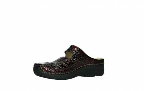 wolky slippers 06227 roll slipper 65510 burgundy red leather_11