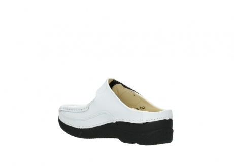 wolky slippers 06227 roll slipper 70100 white printed leather_10