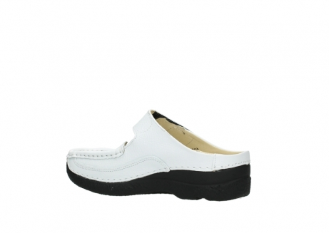 wolky slippers 06227 roll slipper 70100 white printed leather_11