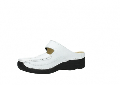 wolky slippers 06227 roll slipper 70100 white printed leather_15