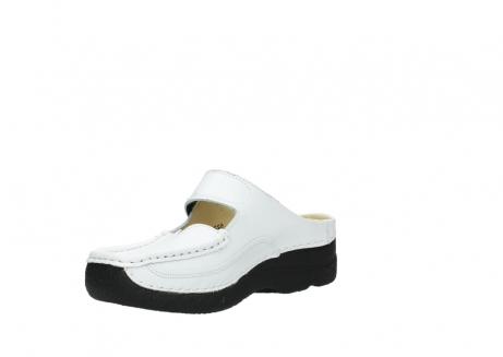 wolky slippers 06227 roll slipper 70100 white printed leather_16