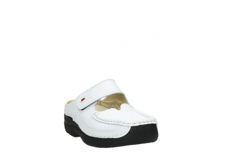 wolky slippers 06227 roll slipper 70100 white printed leather_21