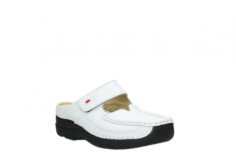 wolky slippers 06227 roll slipper 70100 white printed leather_22
