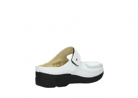 wolky slippers 06227 roll slipper 70100 white printed leather_4