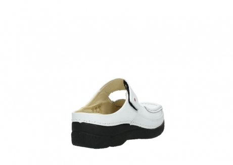 wolky slippers 06227 roll slipper 70100 white printed leather_5