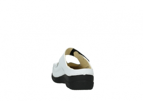 wolky slippers 06227 roll slipper 70100 white printed leather_8