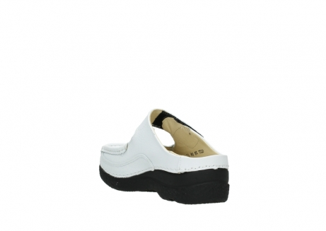 wolky slippers 06227 roll slipper 70100 white printed leather_9