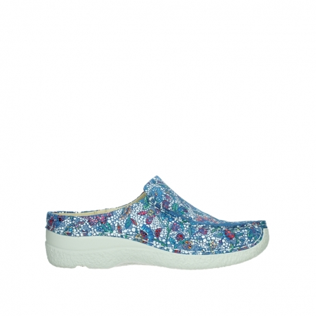 wolky slippers 06250 seamy slide 42865 royal blue mosaic suede