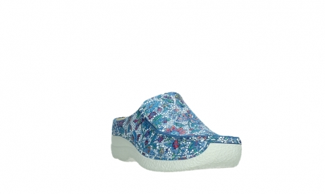 wolky slippers 06250 seamy slide 42865 royal blue mosaic suede_5