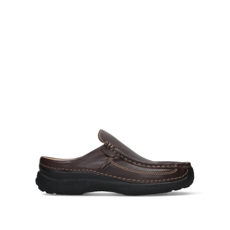 wolky heren slippers 09210 roll slide men 50300 brown leather