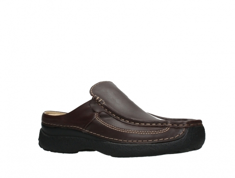 wolky heren slippers 09210 roll slide men 50300 brown leather_3