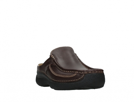 wolky heren slippers 09210 roll slide men 50300 brown leather_5