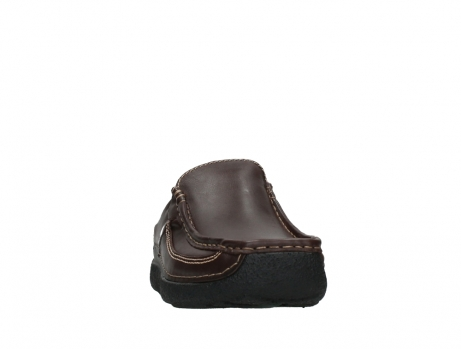wolky heren slippers 09210 roll slide men 50300 brown leather_6
