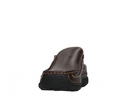wolky heren slippers 09210 roll slide men 50300 brown leather_8