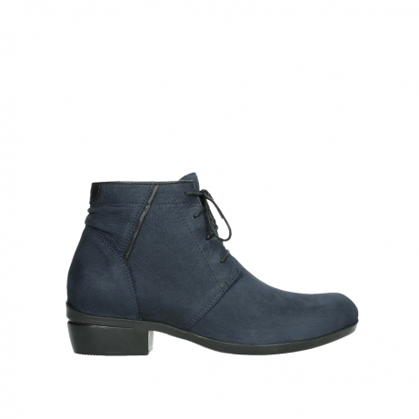 wolky lace up boots 00955 delano 13800 blue nubuckleather