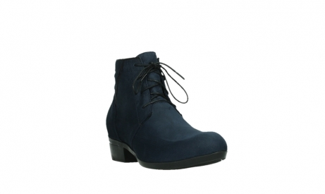 wolky lace up boots 00955 delano 13800 blue nubuckleather_5