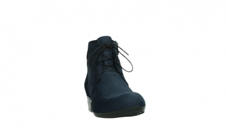 wolky lace up boots 00955 delano 13800 blue nubuckleather_6