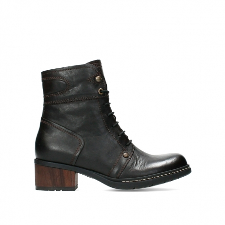 wolky ankle boots 01260 red deer 30305 dark brown leather
