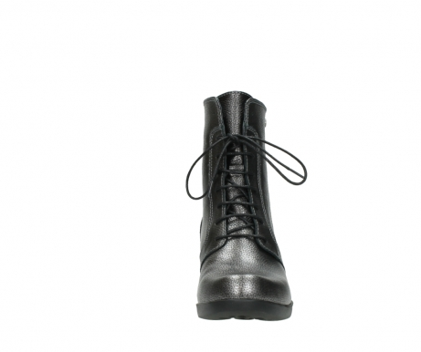 wolky lace up boots 01377 forth 81280 metal grey leather_19