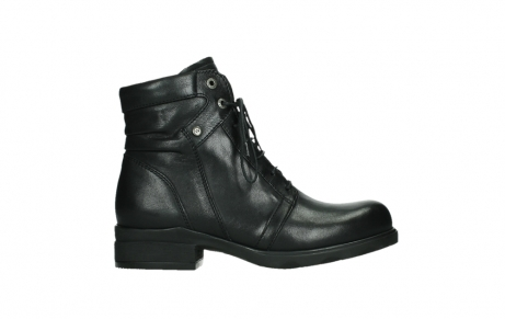 wolky ankle boots 02625 center 20000 black leather_1