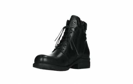 wolky ankle boots 02625 center 20000 black leather_10