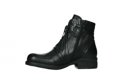 wolky ankle boots 02625 center 20000 black leather_12
