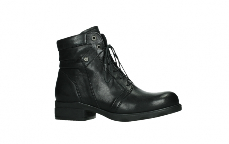 wolky ankle boots 02625 center 20000 black leather_2
