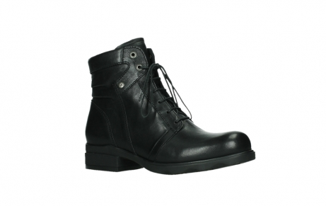wolky ankle boots 02625 center 20000 black leather_3