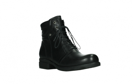 wolky ankle boots 02625 center 20000 black leather_4