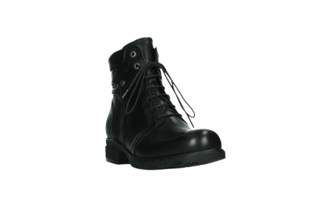 wolky ankle boots 02625 center 20000 black leather_5