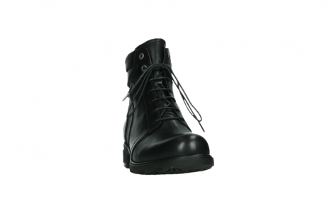 wolky ankle boots 02625 center 20000 black leather_6