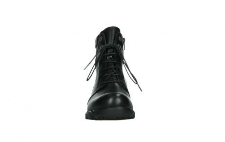 wolky ankle boots 02625 center 20000 black leather_7