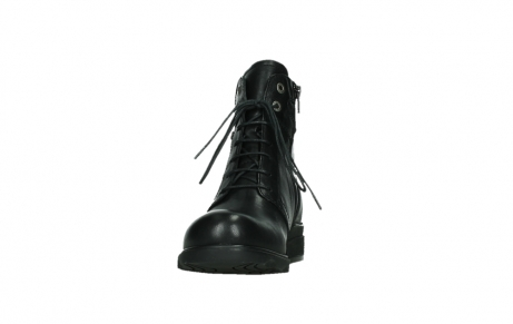 wolky ankle boots 02625 center 20000 black leather_8