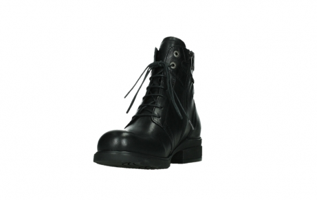 wolky ankle boots 02625 center 20000 black leather_9