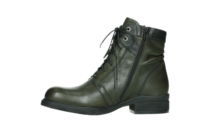 wolky lace up boots 02625 center 20730 forestgreen leather_12