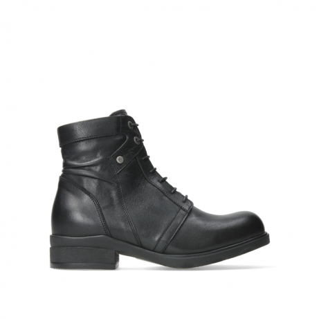 wolky ankle boots 02625 center 20000 black leather