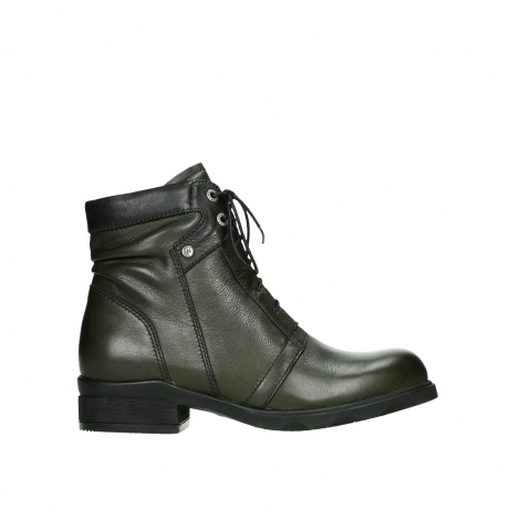 wolky lace up boots 02625 center 20730 forestgreen leather