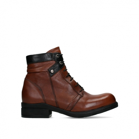 wolky ankle boots 02628 center wp 20430 cognac leather