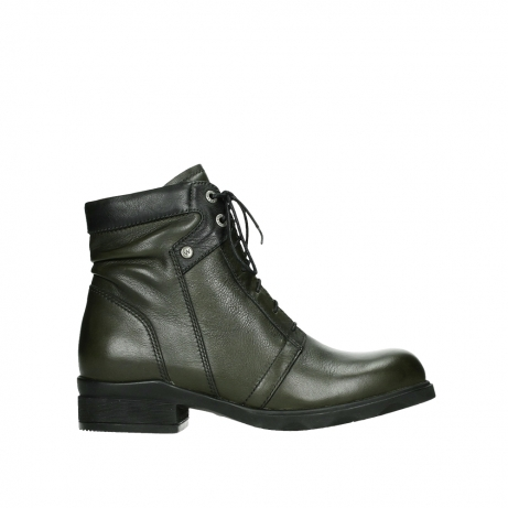 wolky lace up boots 02629 center xw 20730 forestgreen leather